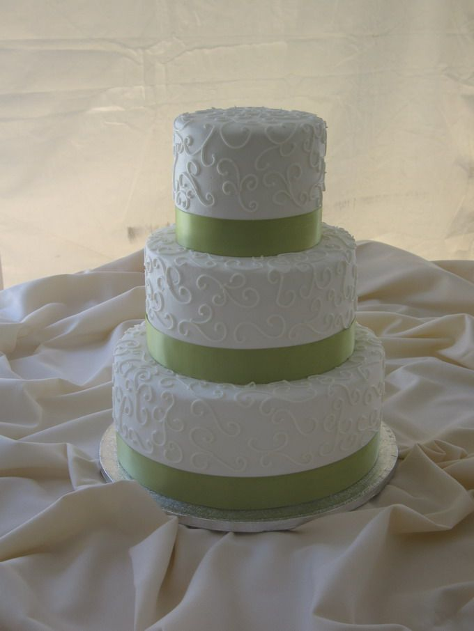 cake lady - with blue satin ribbon