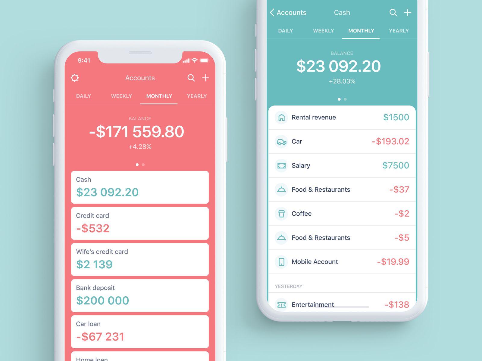 personal budget app ui pinterest app ui design and budget app
