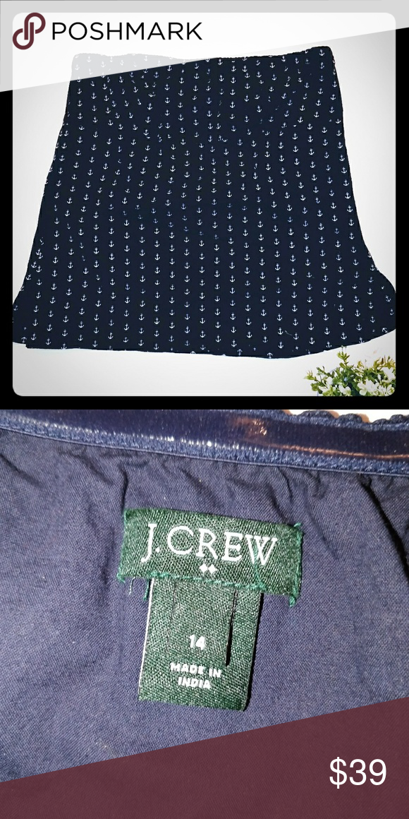 f4bfd3392e J Crew Navy Nautical Anchor Tube Tank Top 14 J Crew cute as a button Navy