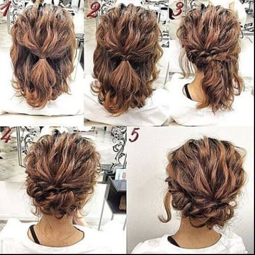 Low Bun For Short Hair Updos For Short Hair Simple Prom Hair Hair Styles Short Hair Updo
