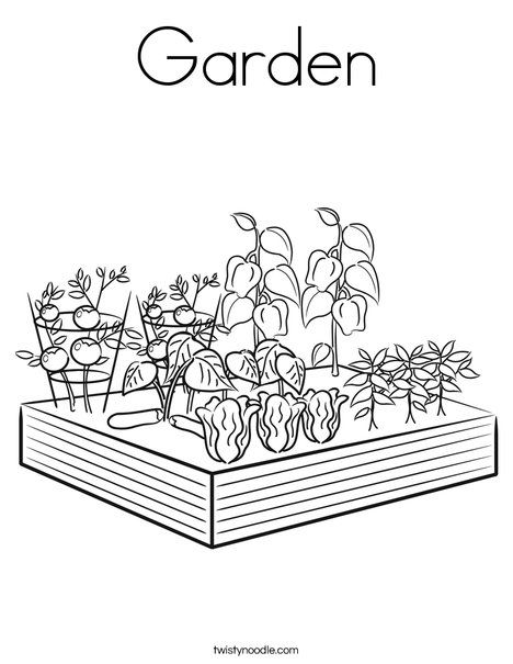 Garden Coloring Page Garden Coloring Pages Vegetable Coloring Pages Flower Coloring Pages