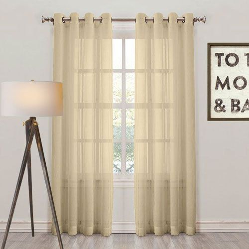 Add A Touch Of Gold With These Sheer Curtains