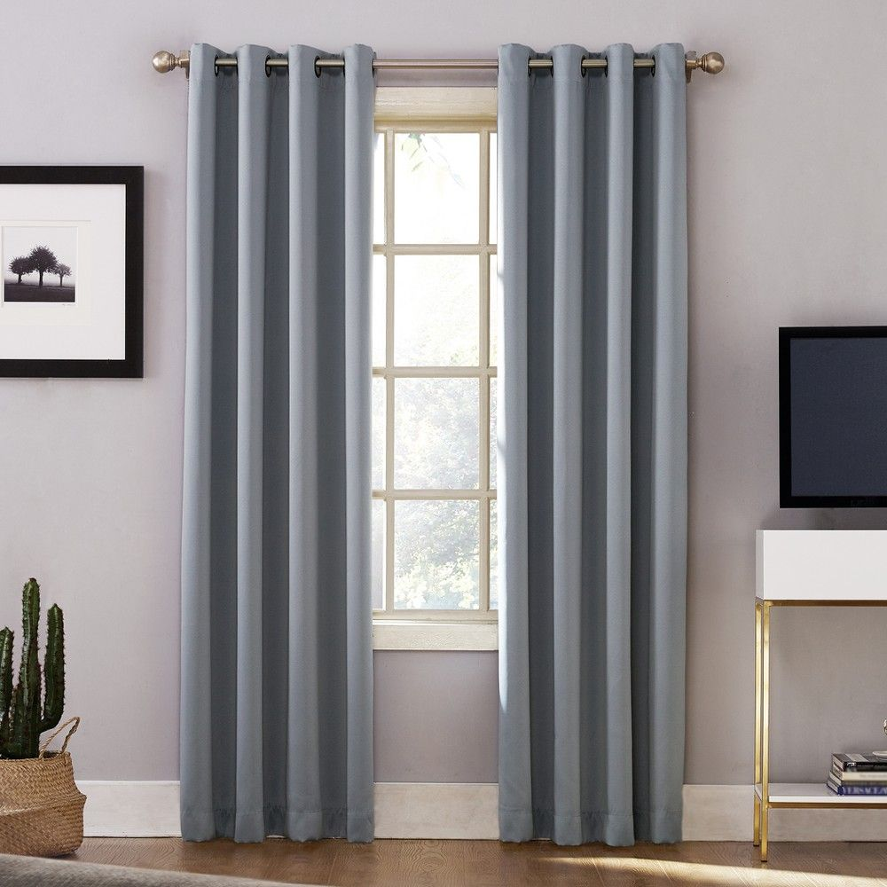 Oslo Theater Grade Extreme Blackout Grommet Curtain Panel Haze 52