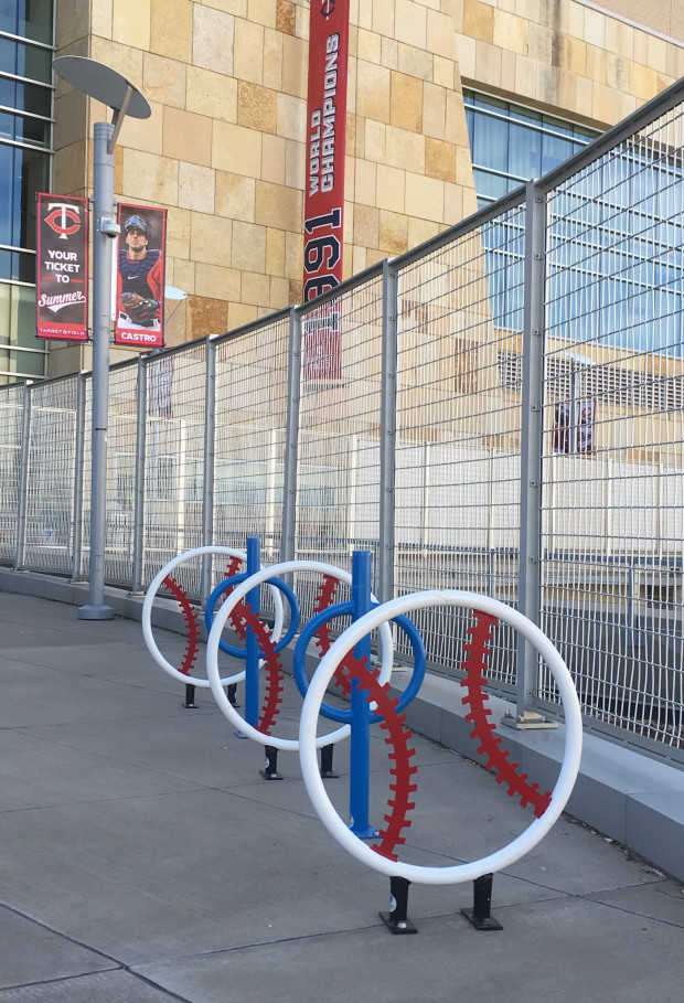 Target Field Station Bicycle Racks With Images Bicycle Rack