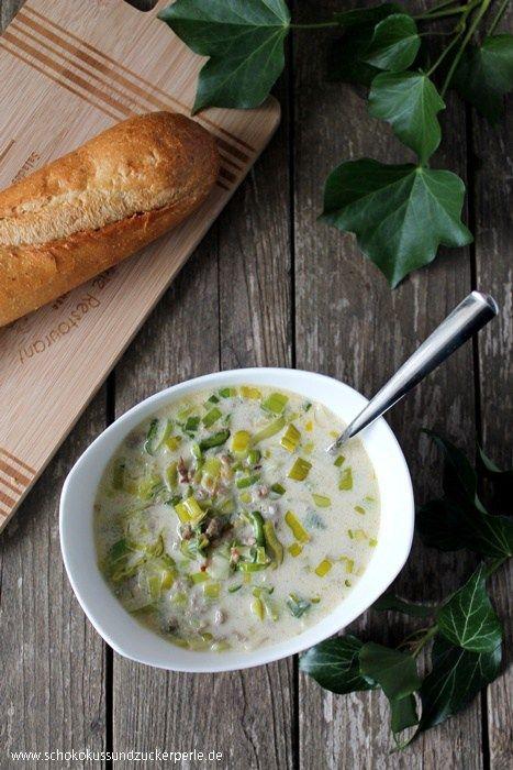 Leckeres und einfaches Rezept für den Suppen-Klassiker Käse-Lauch - käse lauch suppe chefkoch