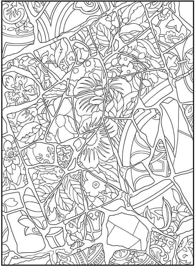 mosaic design 1 from dover publications httpwwwdoverpublicationscom dover coloring pagescoloring - Dover Coloring Pages Printable