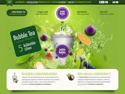 Jubble Bubble Tea Colorful Website Design Creative Website Design Website Design
