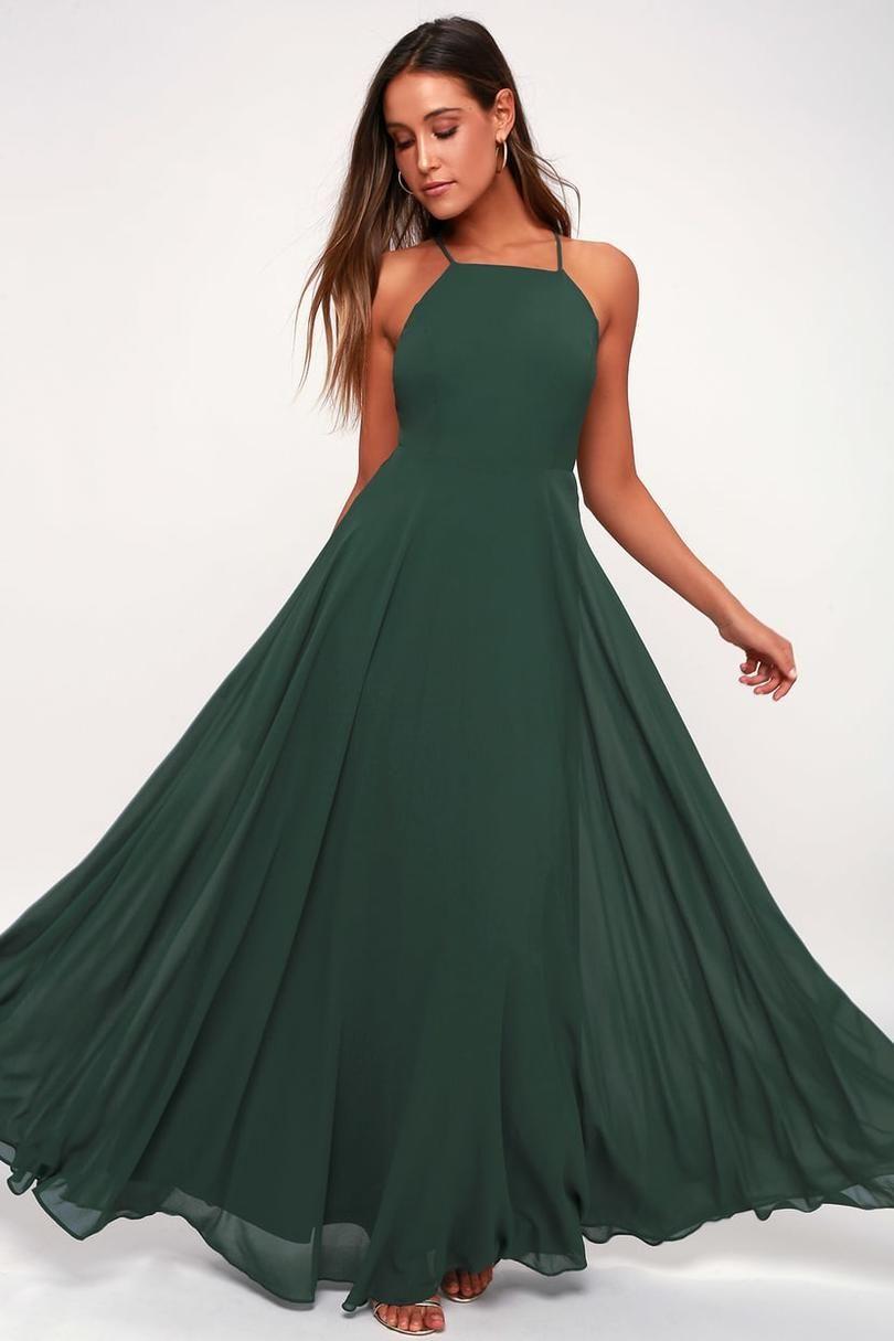 2789205127 Bridesmaid Dress Trends for 2019 | Wedding Ideas | Green maxi ...