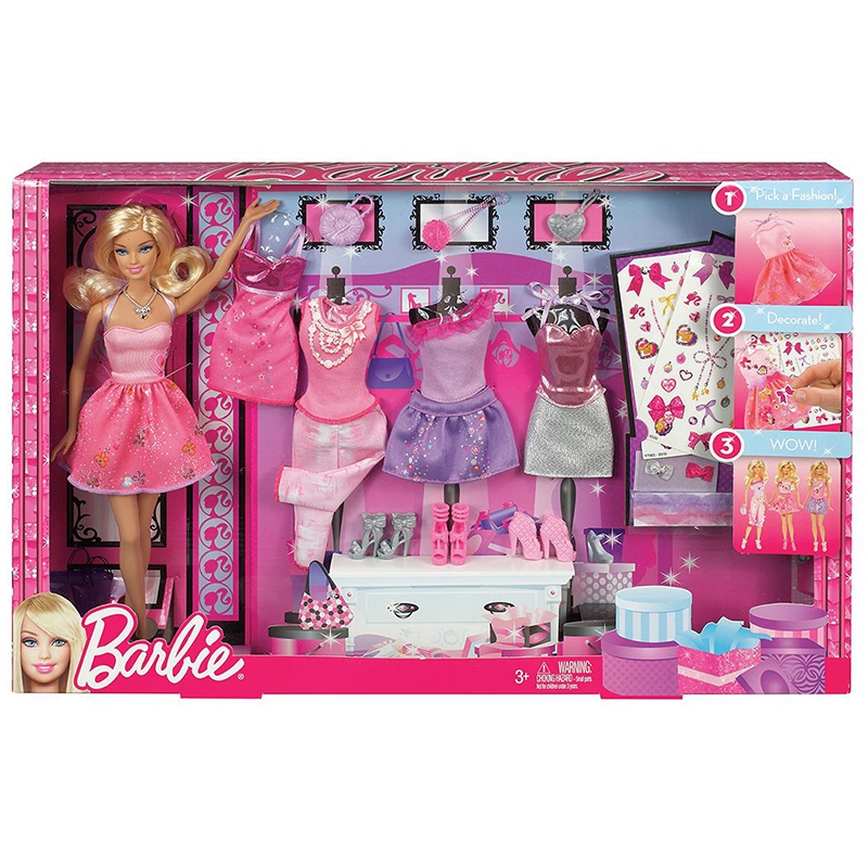 79.99$  Buy now - http://aliequ.worldwells.pw/go.php?t=32787721377 - Genuine Barbie Doll Toys Design Collocation Gift Set With 5 Sets Of Clothes Accessories Educational Toy Birthday Gift For Girls 79.99$