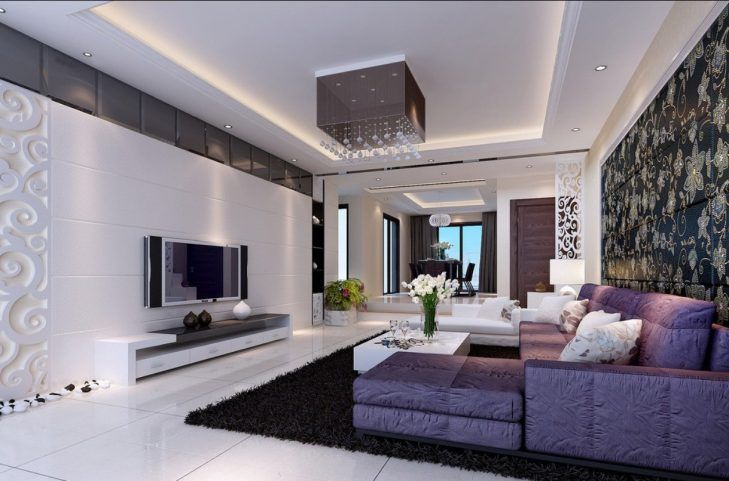 Lila Deko Ideen Wohnzimmer - Badezimmer LivingRoom Pinterest - Wohnzimmer Modern Lila