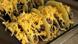Beef & Bean -- Oven Tacos Recipe - Food.com