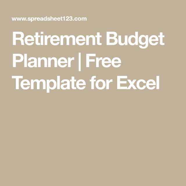 retirement budget planner free template for excel employment