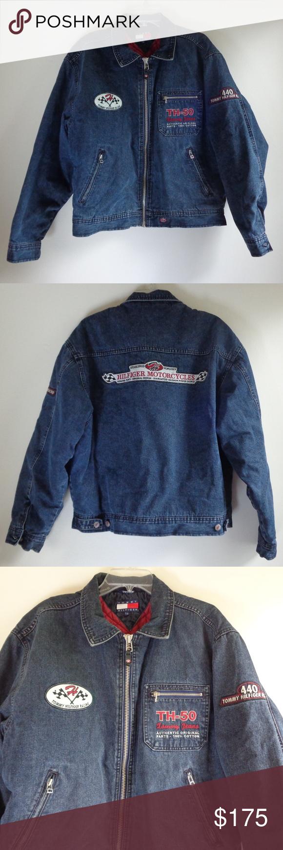 Tommy Hilfiger Men's Racing Denim Jacket RARE