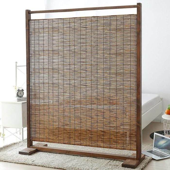 Rustic Wood And Reed Single Panel Room Divider In 2021 Room Divider Panel Room Divider Diy Room Divider Single panel room dividers