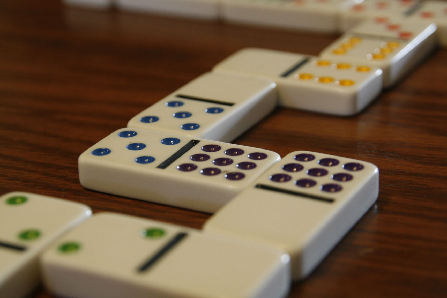 Dominoes With Points Add The Dots On Both Exposed Ends
