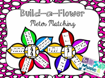 In this cute musical meter matching game, students match flower petals (Rhythms) to their flower center (Meter). You can use this as an assessment tool, or as a fun review game for your students.This file includes:- Flower centers and petals in color- Flower centers and petals in Black and White- 2 flowers for 4/4, 3/4, 2/4, and 6/8 metersCheck out these Build-a-Flower products: Build-a-Flower- Instrument Family ReviewBuild-a-Flower- Note Name MatchingLike me on Facebook!Follow me:Music and…