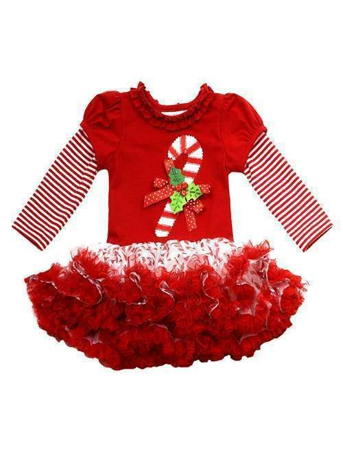 86b309b0d1700 Red Candy Cane Christmas Girls Tutu Dress   Rare Editions Holiday Dress