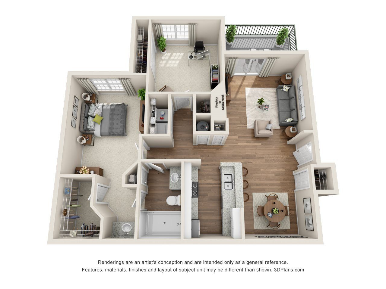The Yorkshire 1 Bed 1 Bath Bedroom Apartment Apartment View