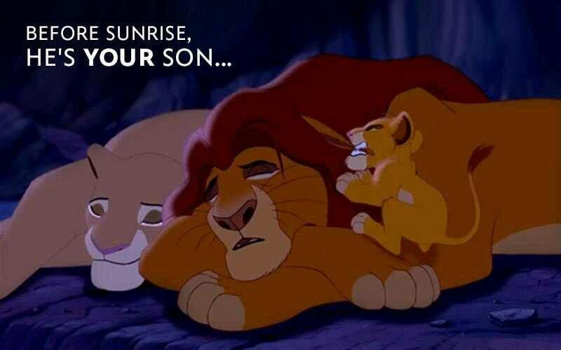 """Your son is awake...."""