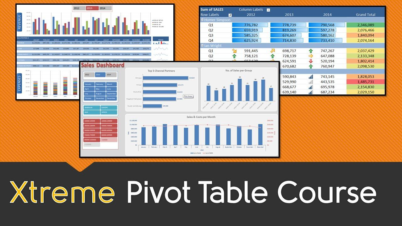 What's the best way to learn pivot tables and vlookup? : excel