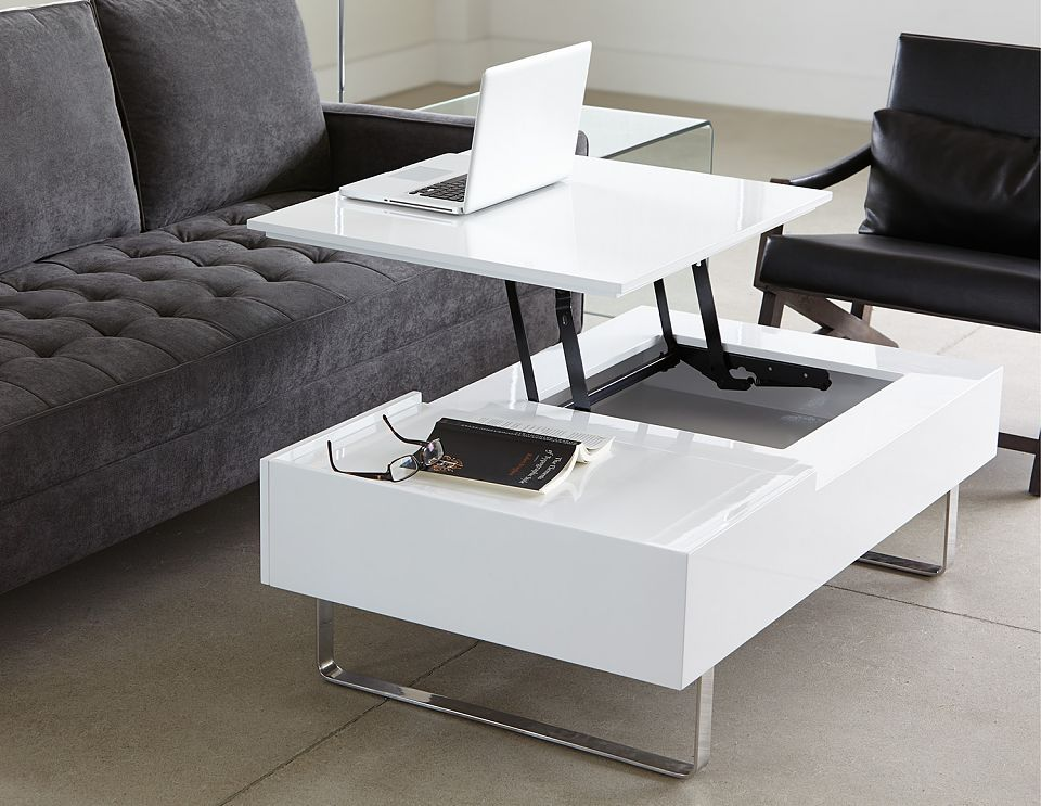 structube living room accent tables evo white
