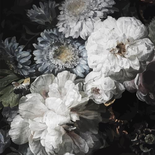 anewall peony modern classic dark floral