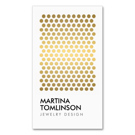 Gold Circles on White Designer Business Card Card templates - dot paper template