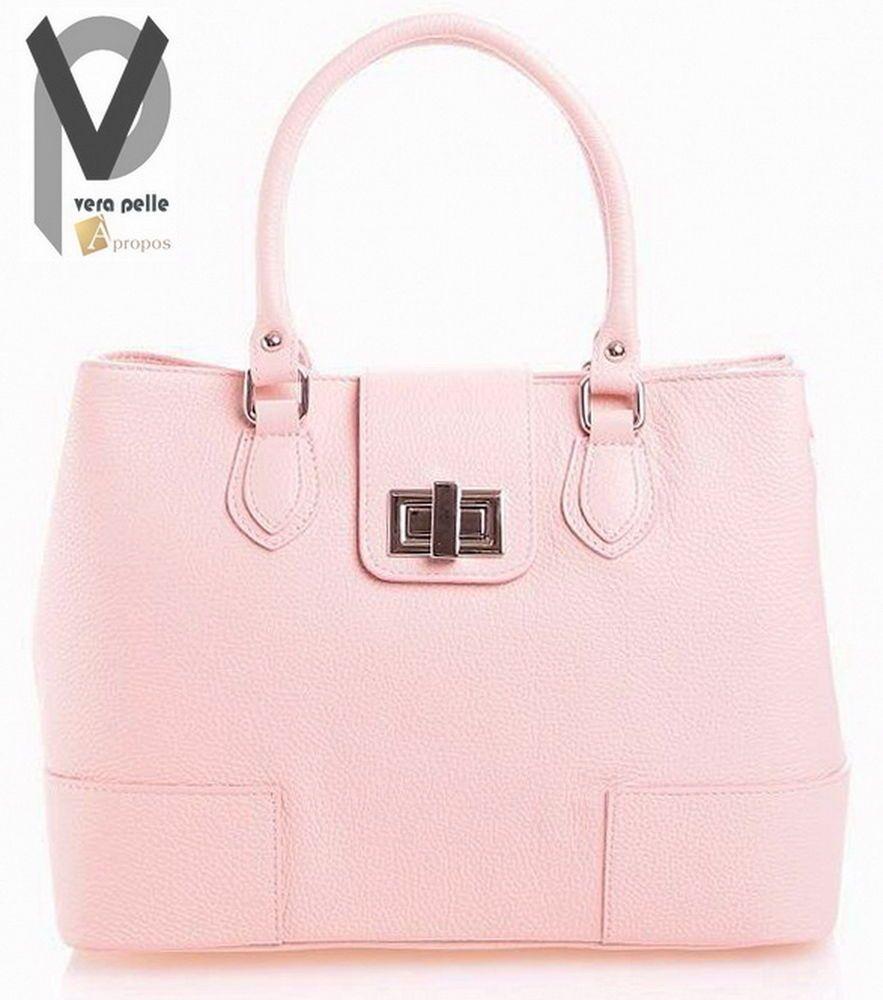 vera pelle schultertasche 33cm leder henkel trageriemen handtasche rosa apropos apropos luxus. Black Bedroom Furniture Sets. Home Design Ideas