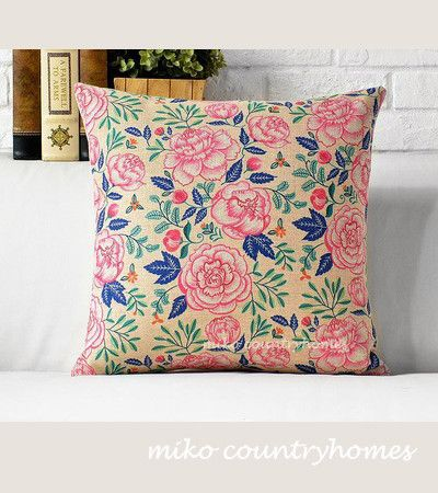 Nature Inspired Fl Print Throw Pillow Cover