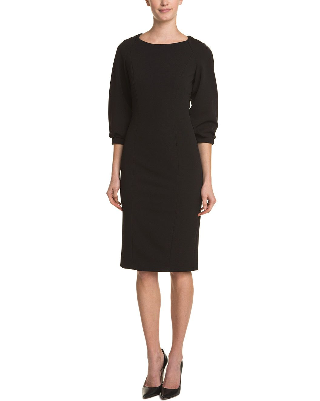 Spotted this Badgley Mischka Black 3/4 Sleeve Shift Dress on Rue La La. Shop (quickly!).