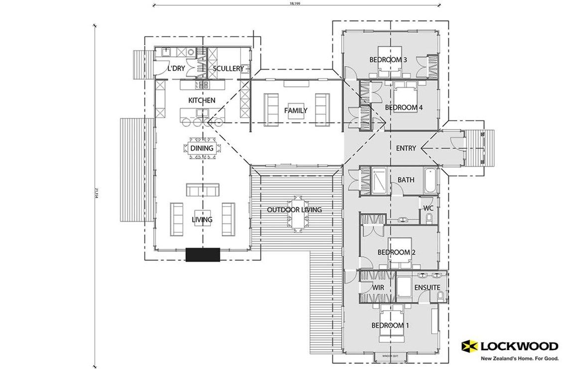 Anakiwa house plans new zealand house designs nz for Floor plans new zealand