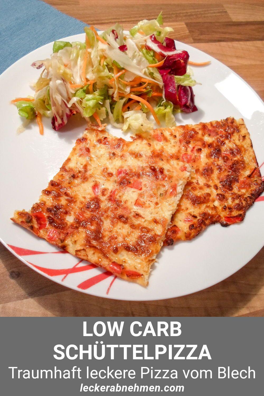 Low Carb Pizza vom Blech – Schüttelpizza Rezept zum Abnehmen