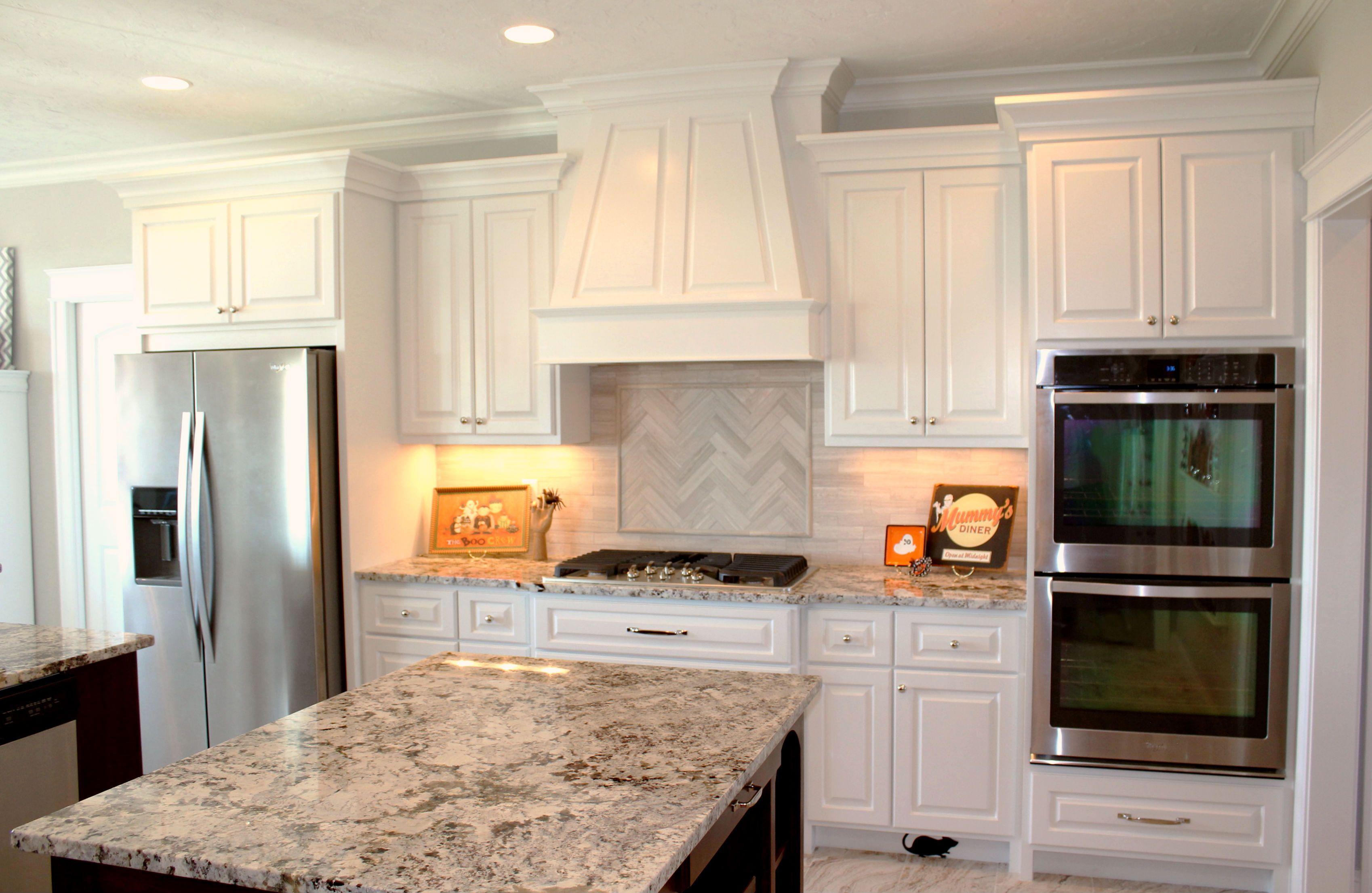 Stunning Countertop And Backsplash White Granite Countertops