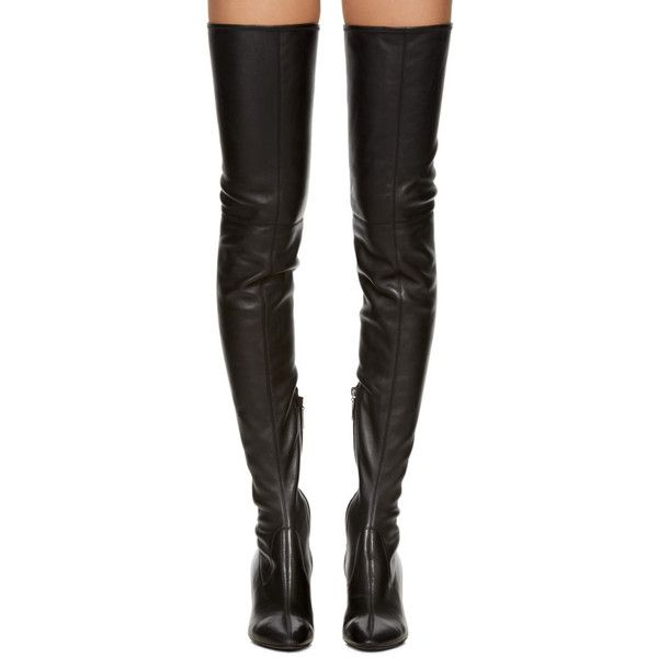 a1d43438e88 Saint Laurent Black Loulou Over-the-Knee Boots (4 265 PLN) ❤ liked ...