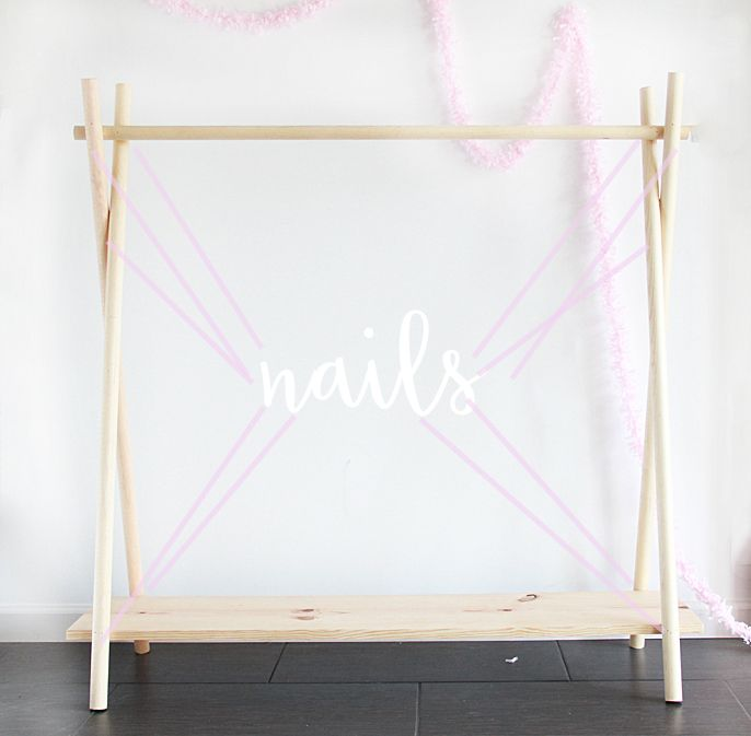 Diy Wooden Clothing Rack In 10 Yes 10 Minutes A Bubbly Life Diy Clothes Rack Wooden Clothes Rack Kids Clothing Rack