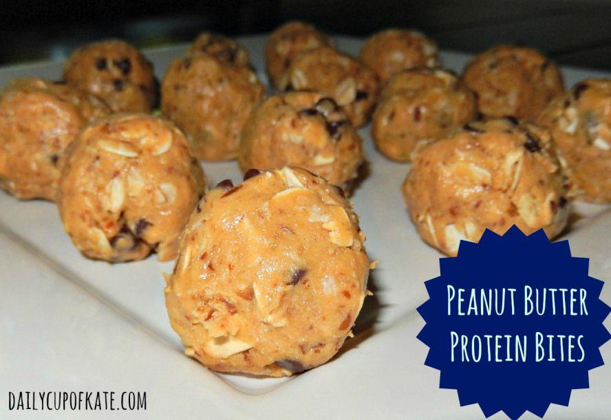 Peanut butter protein bites...