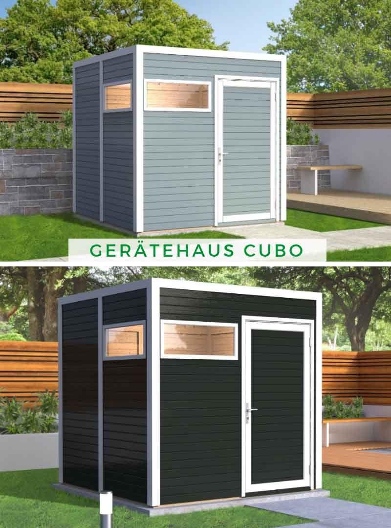 Gerätehaus Garten Das Design Gerätehaus Cubo besticht