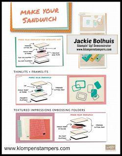 Big Shot Sandwich Recipe Big Shot Card Making Tips Paper Craft Tutorials