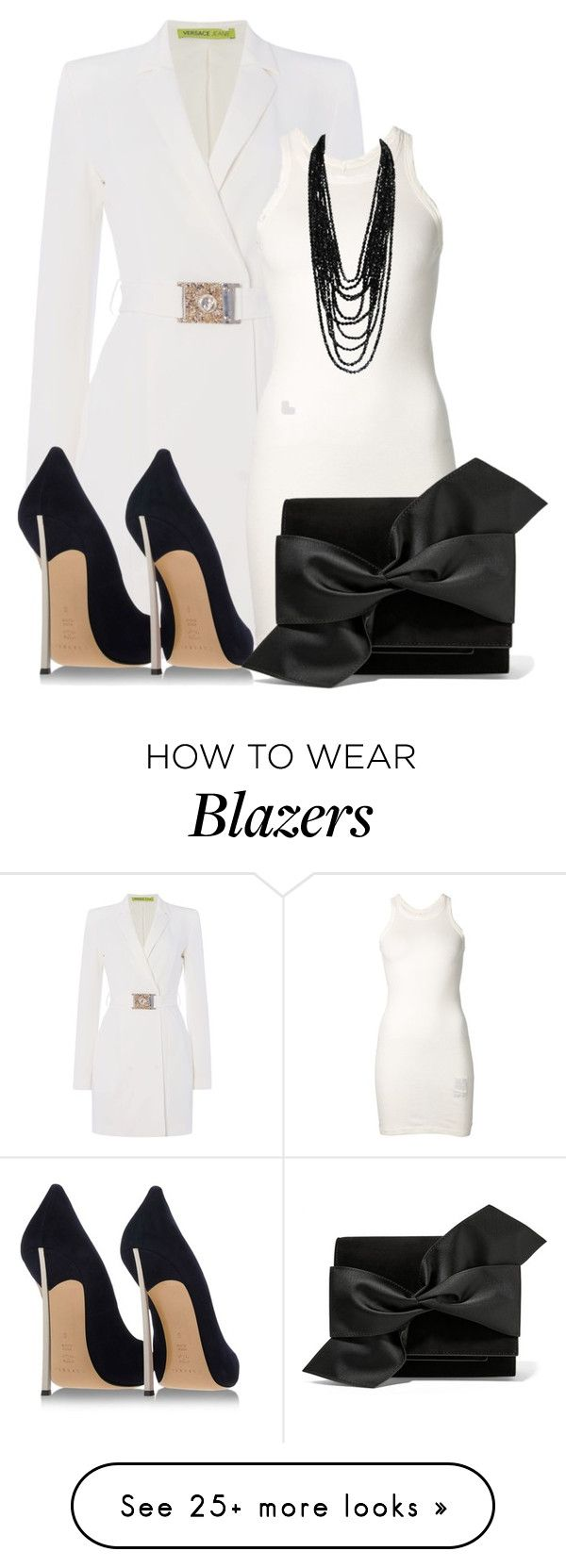 """""""Untitled #13607"""" by nanette-253 on Polyvore featuring Versace, DRKSHDW, Casadei and Victoria Beckham"""