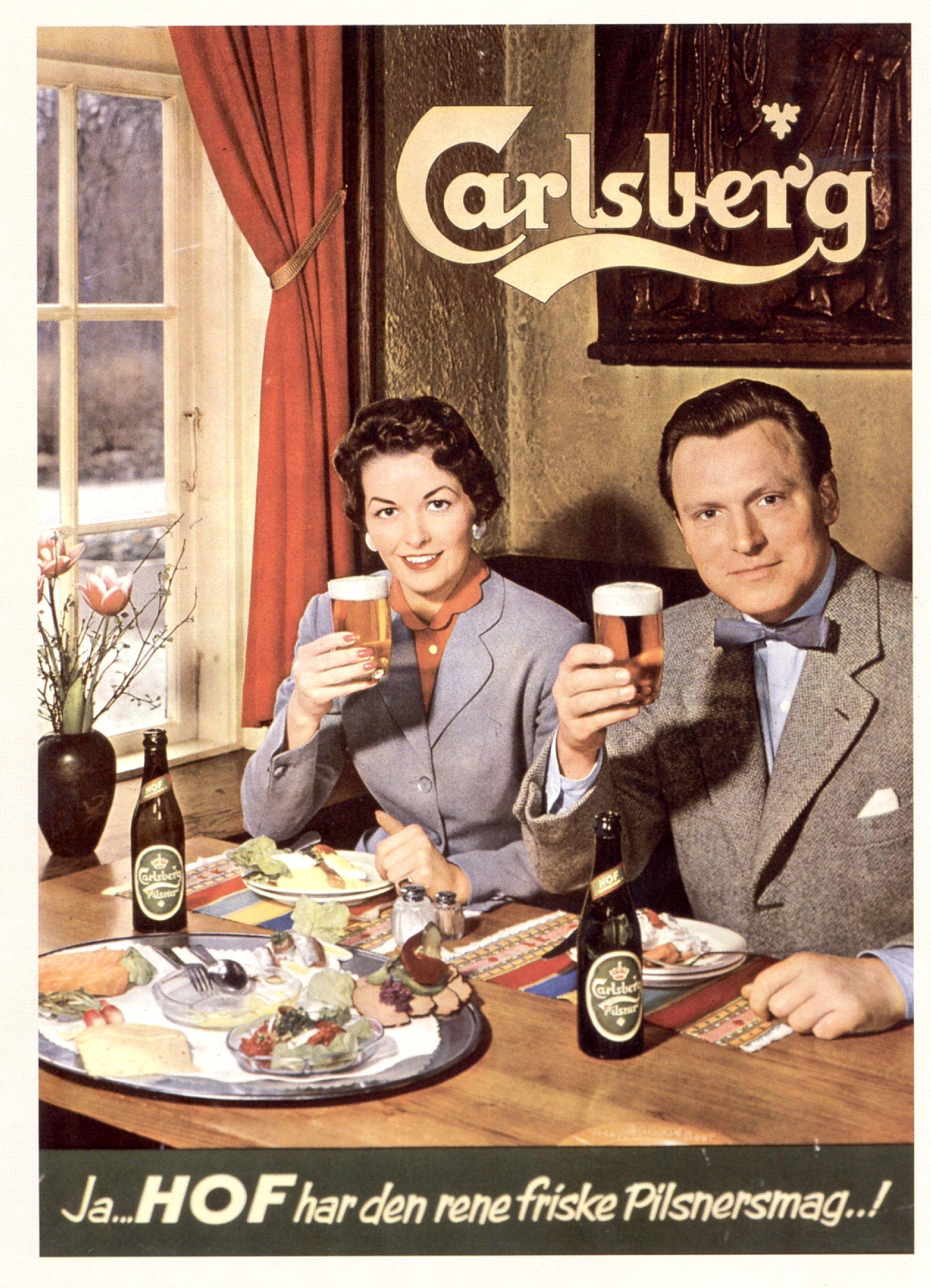 Gammel Carlsberg-reklame. | (Rablende) Reklamer | Pinterest | Google
