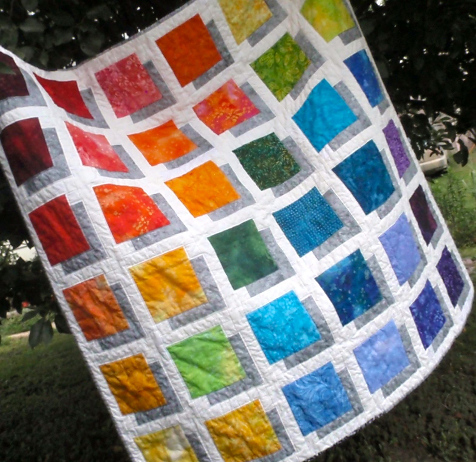 Pin By Lynda Winter Mccullough On My Finished Projects Colorful Quilts Charm Square Quilt Geometric Quilt