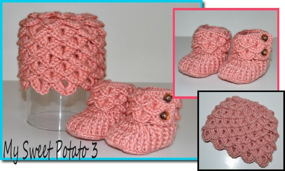 Crocheting Crocodile Hat Booties So Sweet Warm Frilly Looking