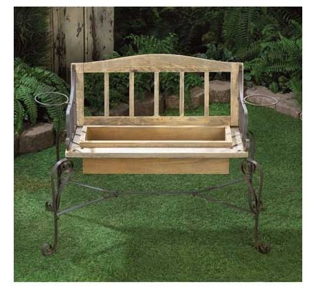 Iron Wood Bench Planter Free Shipping 60 00 Garden In The Woods Garden Bench Rustic Planters