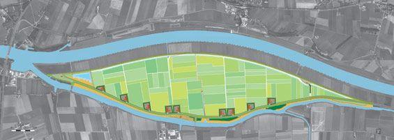 Mound plan | Overdiepse polder The Netherlands | Bosch Slabbers Landscape + Urban design #fllod #prevention #water #plan