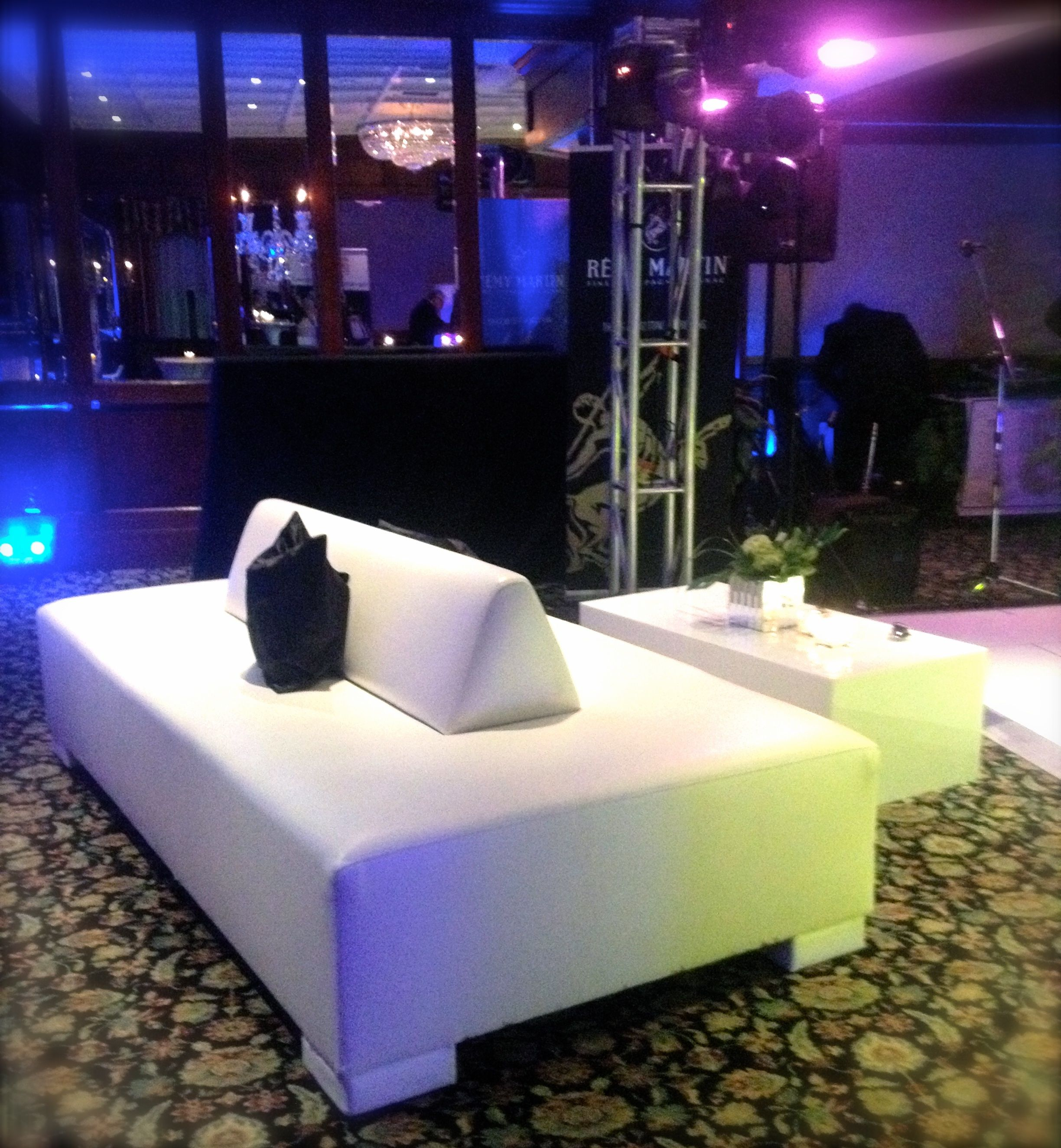 White two sided leather sofa | Lounge Furniture | Pinterest ...