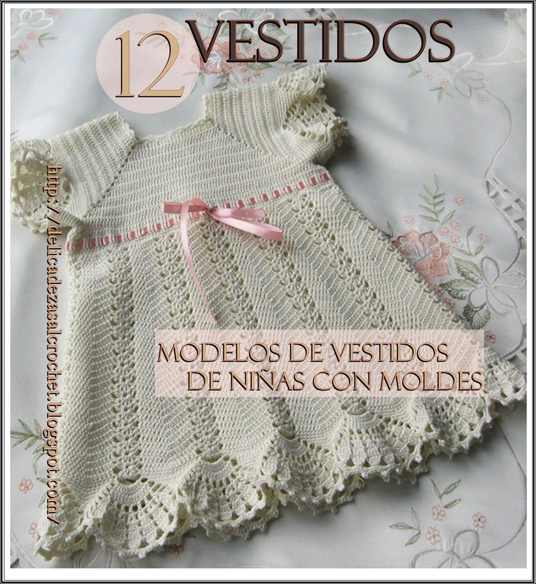 Delicadezas en crochet Gabriela: 12 Vestidos de niñas | Tejido ...