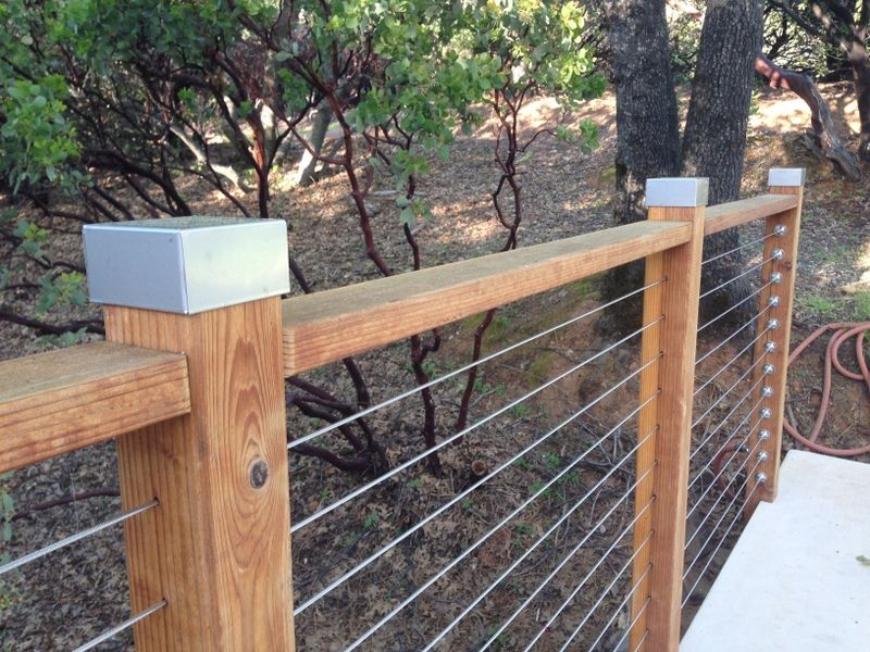 Wood and cable fences seem to be growing in popularity. Kits allow for easy installation, like this one from thecableconnection.com - http://thecableconnection.com/order-railing.html. And they allow for visibility as well as safety. This one features our Square Stainless Post Caps. https://www.sheetmetalcaps.com/collections/post-caps/products/square-stainless-post-caps