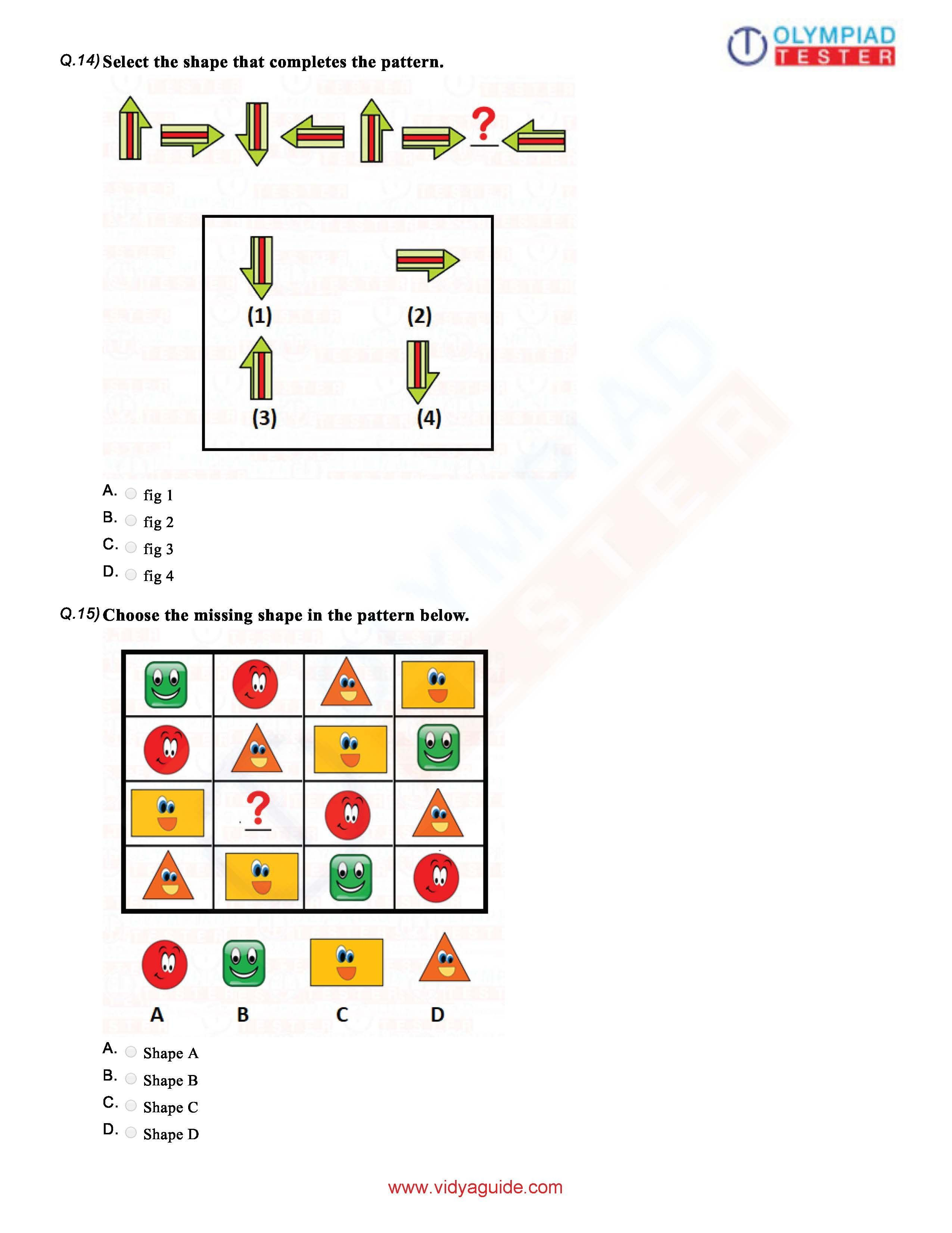 Download Grade 1 Maths Olympiad Sample Papers As