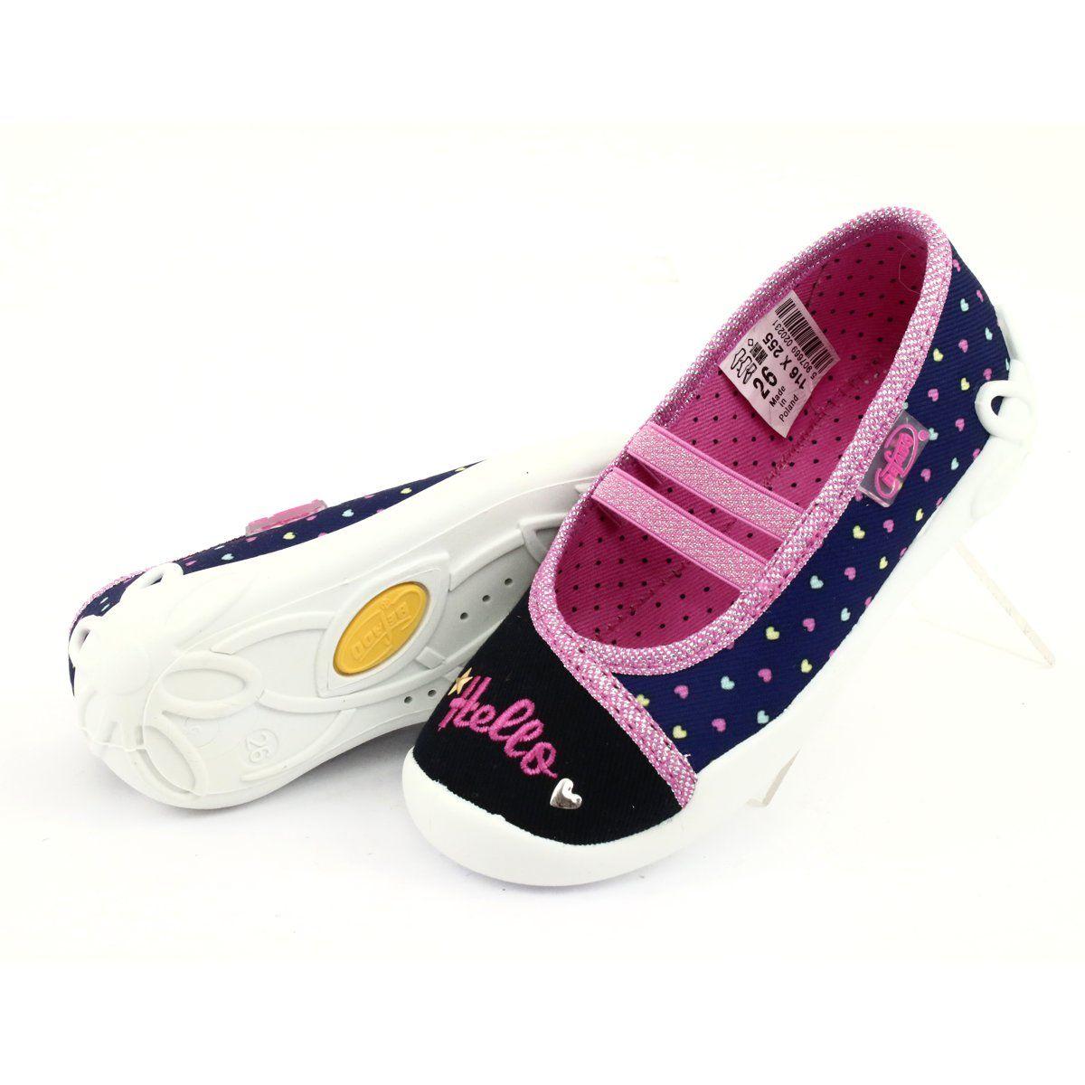 Befado Obuwie Dzieciece 116x255 Granatowe Niebieskie Shoes Slip On Sneaker Sneakers