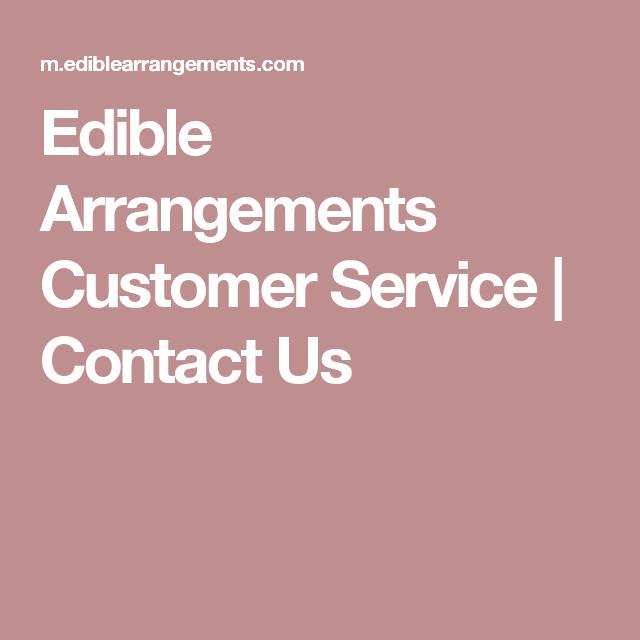 edible arrangements customer service